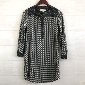LOFT XSP Bandanna Print Popover Shift Dress